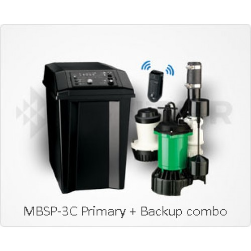 Sump Pump Monitoring System : Myers mbsp c battery backup sump pump system