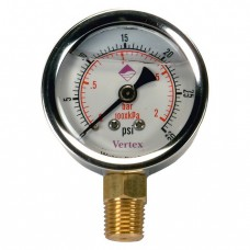 "Vertex 2"" Pressure Gauge with Bottom Outlet"